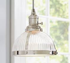 alluring glass pendant lighting pb classic pendant ribbed glass pottery barn