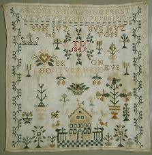 1849 antique dutch cross stitch