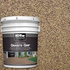 behr premium 5 gal gg 13 pebble sunstone decorative flat interior exterior