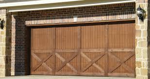 wood veneer garage doors
