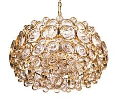 gold plated crystal chandelier by gaetano sciolari for palwa 1960s for at pamono