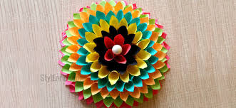 wall decoration ideas to make paper fl craft for your walls on paper craft