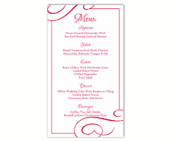 free word menu template wedding menu template diy menu card template editable text word file