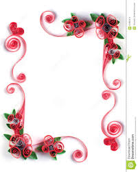 Paper Quilling Flower Frames Quilling Frame With Paper Flower Stock Photo Image Of Gift Easter