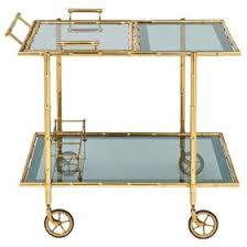 bamboo bar cart. Zoom Image 1940s Maison Bagus Faux Bamboo Bar Cart Art Deco, Glass, Metal, Storage By