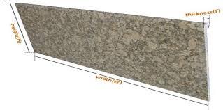 granite countertop sizes