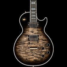 Gibson Custom Les Paul Custom 3A Quilt Top with Gold Hardware ... & Gibson Custom Les Paul Custom 3A Quilt Top with Gold Hardware Electric  Guitar Adamdwight.com