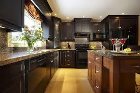 Dark Mahogany Kitchen Cabinets Appealing Black Ceramic Kitchen Backsplash Trends Dark Mahogany
