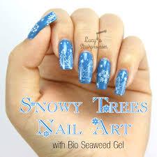 Snowy Trees Gel Polish Nail Art + TUTORIAL - Lucy's Stash PRO