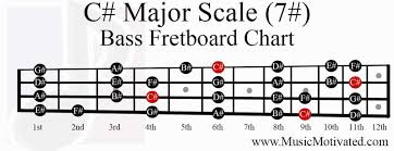c major scale charts for guitar and bass 🎸 Bass Notes Diagram c sharp major scale bass fretboard notes chart bass notes diagram