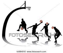 バスケットボール シルエット クリップアート