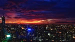 380196 night city, sunset, buildings ...