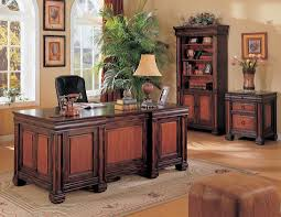 home office set. Dark Two Tone Home Office Set