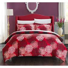 soft brushed microfiber makes up a comfortable feel in this three piece duvet cover set