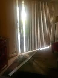 vertical blinds or curns on sliding