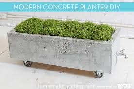 How To: Make a Modern, Trough-Style Concrete Planter