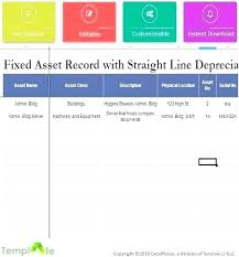 fixed assets format fixed asset register excel template sample free depreciation