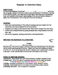 response to literature essay format co response to literature essay format