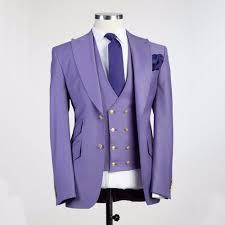 Light Purple Tuxedo Vest Us 74 06 30 Off New Arrival Groomsmen Light Purple Groom Tuxedos Peak Lapel Men Suits Wedding Best Man Blazer Jacket Pants Vest Tie C450 In