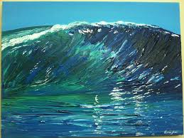 wave all artworks painting acrylic
