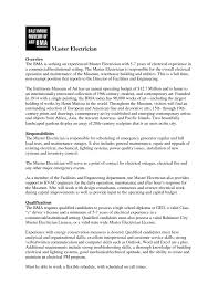 Gallery Of Resume Sample Master Cake Decorator Examples Electrician