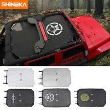 <b>SHINEKA Car Stickers for</b> Jeep Wrangler JL 2018 ABS Car Spare ...