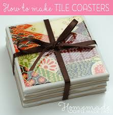 how to make tile coasters finished coaster
