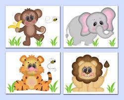safari animal baby nursery prints boy wall art jungle monkey elephant tiger lion on safari animal wall art with safari animal baby nursery prints boy wall art gift monkey elephant
