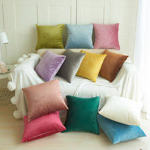 ship from us solid velvet decorative pillows cover simple style throw pillow case 45x45cm pillowcase home decor for sofa seat cushion cover