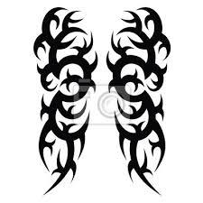 Plakát Tetování Nápady Rukávy Návrhy Kmenové Tetování Vzor Vektorové