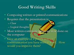 communication ppt video online  good writing skills composing written or printed communications