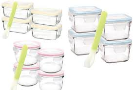 glasslock tempered glass baby food container set 5 piece various designs trade me