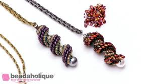 Spiral Beads Design Seed Bead Tutorials How To Do Cellini Spiral Stitch Using