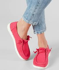 Hey Dude Shoes Size Chart Hey Dude Wendy Shoe Womens Shoes In Coral Buckle In
