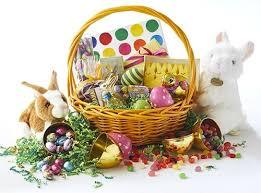 hey easter bunny gift basket