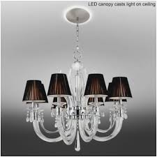 ceiling canopy for chandelier fabulous derry street crystal 32 w black chandelier with led canopy