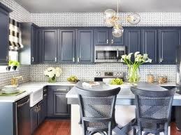 Image of: Two Tone Kitchen Cabinets with Mirrors