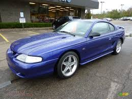 1995 Ford Mustang GT Coupe in Sapphire Blue Metallic photo #8 ...