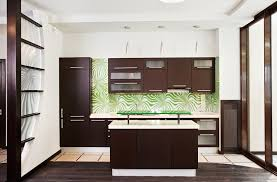 Simple Dark Wood Modern Kitchen Cabinets New With Brown And White Theme Throughout Design
