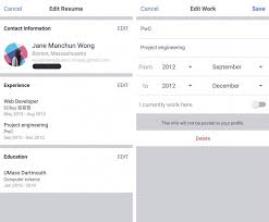 Facebook Begins Testing Resume Work Histories Feature On Mobile