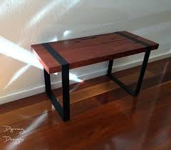 red gum timber coffee table round recycled