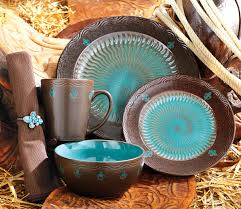 Turquoise Kitchen Decor Brown And Turquoise Kitchen Decor Monarch Dinnerware Collection