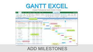 Gantt Excel Add Milestones