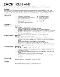 Resume Samples For Estheticians Unique 8 Latest Esthetician Resume