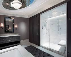 black white gray bathroom