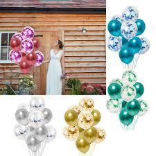 details about 10pcs multi metal chrome balloons wedding ballons glitter confetti baloons