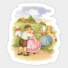 Vintage Georgie Porgie Puddin And Pie Nursery Rhyme