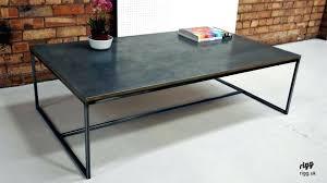 zinc coffee table argo zinc top round coffee table