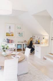 white airy home office. shared home office ideas so you can learn how to work from together our decorating experts show design a workspace for two white airy m