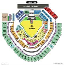 Nationals Park Concert Seating Chart Park Seat Numbers Online Charts Collection